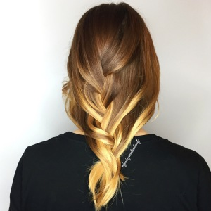Ombre with Braided Style