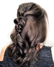 Brunette with braid