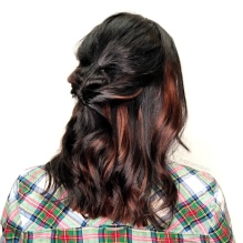 Extensions added for pop of color