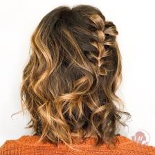 Copper color and braid
